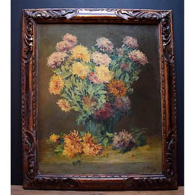Deloye Georges Bouquet De Fleurs Nature Morte Impressionniste XIX XX 19th 20th