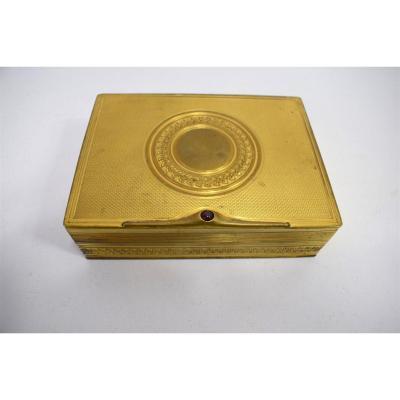 Bronze Box Gilded With Fine Gold And Garnet Art Nouveau Art Déco Jugendstil