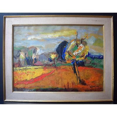 Guy Jeanjean School From Montpellier Hérault Provence Fauve Landscape XX Years 60
