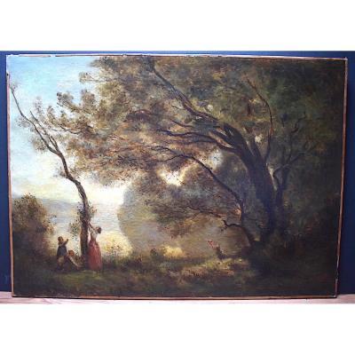 Landscape After Camille Corot Souvenir Of Mortefontaine XIX