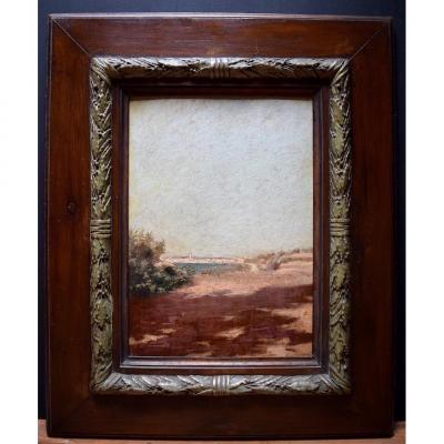 Landscape Of The South Marine Village To Identify Unsigned XIX XX Impressionist Orientalist