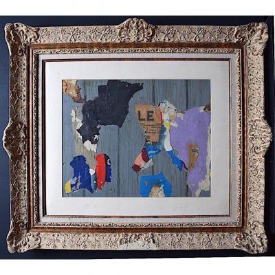 Collage Techniques mixtes Papier Tissus Art Moderne Abstrait XX