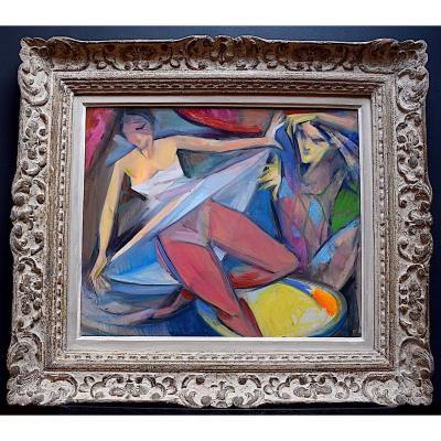 Danseurs Comédiens Théâtre Arlequin Cirque Cubisme Art Moderne XX RT173