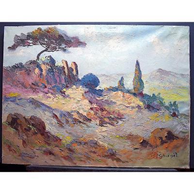 Signed Goupil Landscape Provençal Provence Fauve Post Impressionist XX Rt202