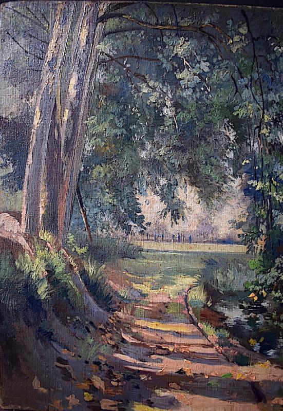 Impressionist Landscape River XIX Rt228-photo-3