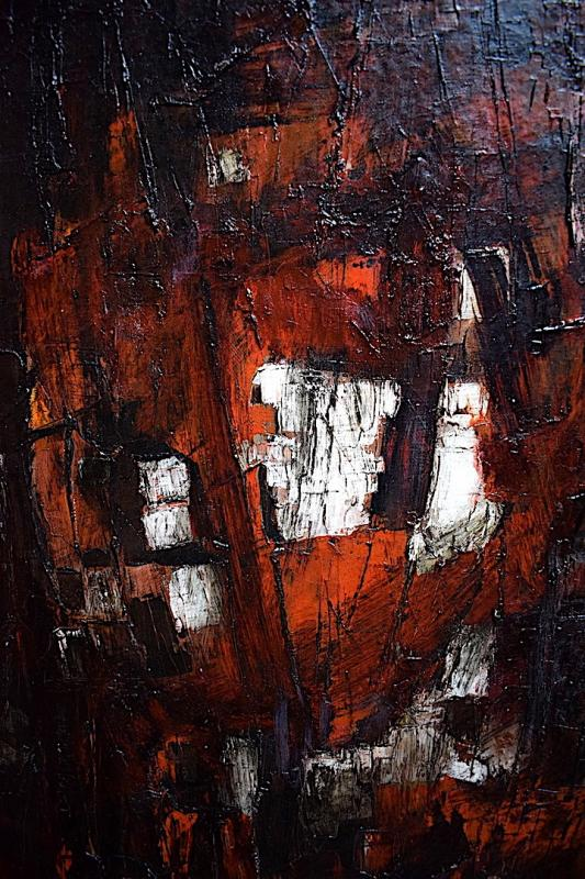 Abstract Expressionist Modernist 1950s 1957 Unsigned XX Rt241-photo-3