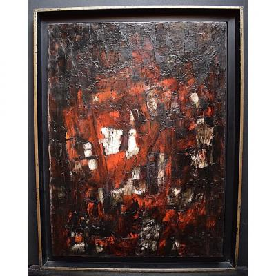 Abstract Expressionist Modernist 1950s 1957 Unsigned XX Rt241