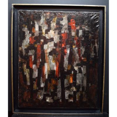 Abstract Expressionist Modernist 1950s 1958 Unsigned XX Rt242