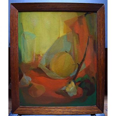 Still Life With Fruits Modernist Composition XX Rt253