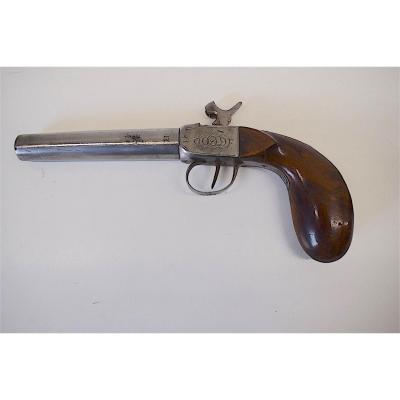 Pistolet à Coffre Canon à Vis Calibre 11 Mm Monogramme XIX ème REF155