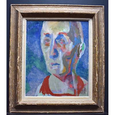 Portrait Man Expressionist Fawn Modernist XX Rt256