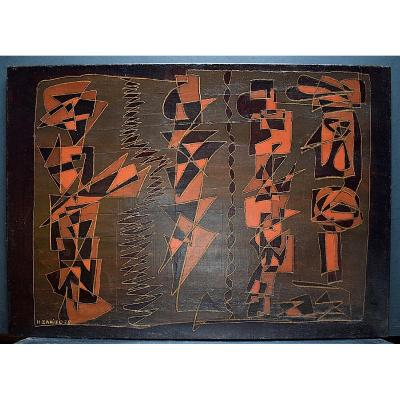 Signed H Daniel Abstract Modernist 1970s XX Rt264