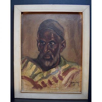 Signé S Zakarian Portrait Homme Orientaliste XX RT295