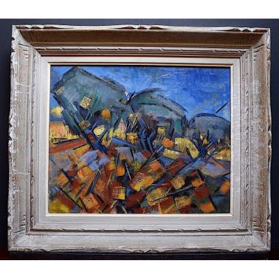 Abstract Modernist Provençal Landscape XX Rt306