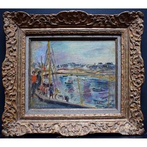 Marguerite Lemaire Ghy-lemm Marine Boat Normandy Brittany Impressionist XX