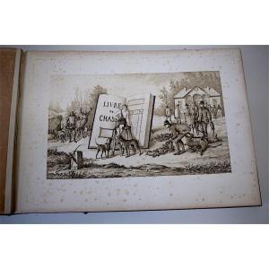 Curiosité grand Livre Calendrier   Tableaux Chasse Ed Boucher Gravures J.a.m.s 25 Planches XIX REF199
