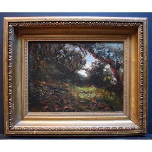 Joseph Trevoux Ecole Lyonnaise Paysage Impressionniste Vignieu Morestel Isère XIX RT397