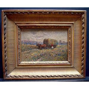 Impressionniste Paysage Scène Champêtre XIX XX RT398