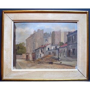 CODALI  Impressionniste Vue de Paris Rue de l'Encheval XIX RT405
