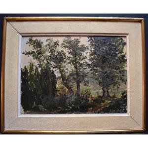 CODALI  Impressionniste paysage Fontenay aux Roses et Sceaux Robinson Paris XIX RT406