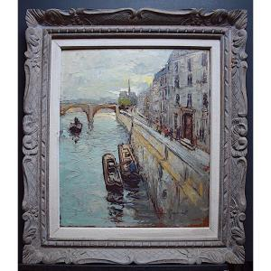 Jan Gridmall Paris Quai De Béthune Île St Louis Pont De La Tournelle Marine Seine XX Rt409
