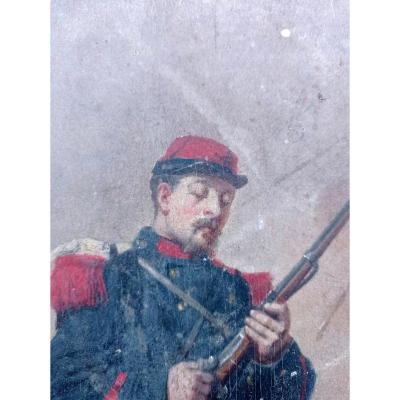 Huile Sur Panneau Alfred Emile Gaubault XIX émé