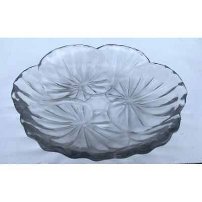 Lalique France, Coupe Feuilles De Nénuphars
