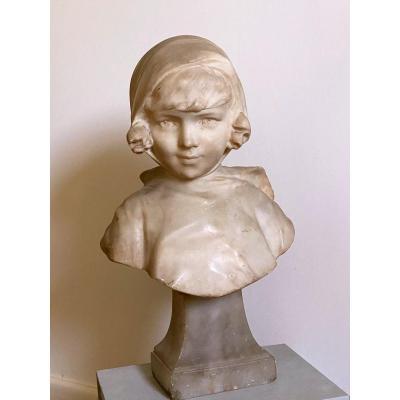 Buste Albâtre Jeune Fille, Fernando 37