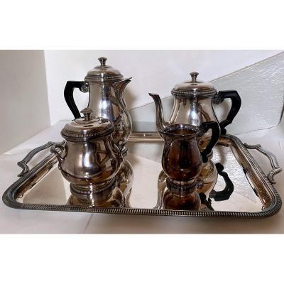Breakfast / Tea / Coffee Service In Silver Metal St Médard