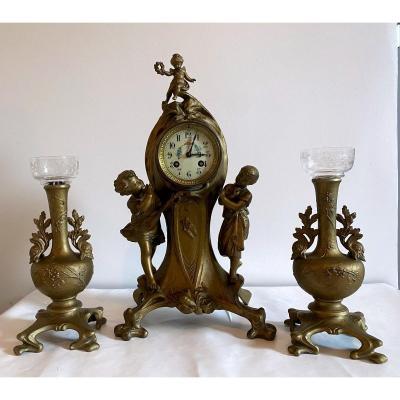 Art Nouveau Mantel Clock 1900
