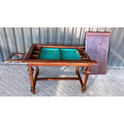 19th Tric Trac Game Table In Walnut