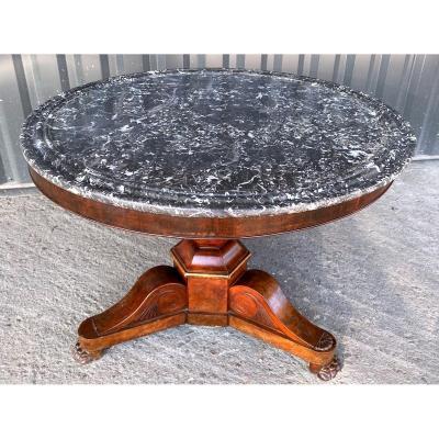 Empire Period Mahogany Table Pedestal - 19th Century
