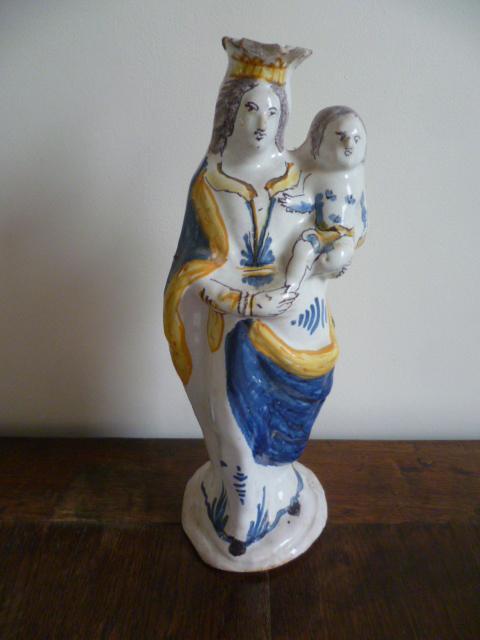 Grande Vierge D 'accouchÉe Epoque XVIIIème Siecle