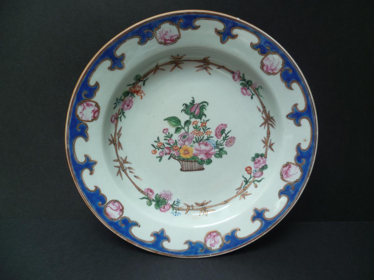 Assiette Porcelaine Compagnie Des Indes Chine XVIIIème Siecle