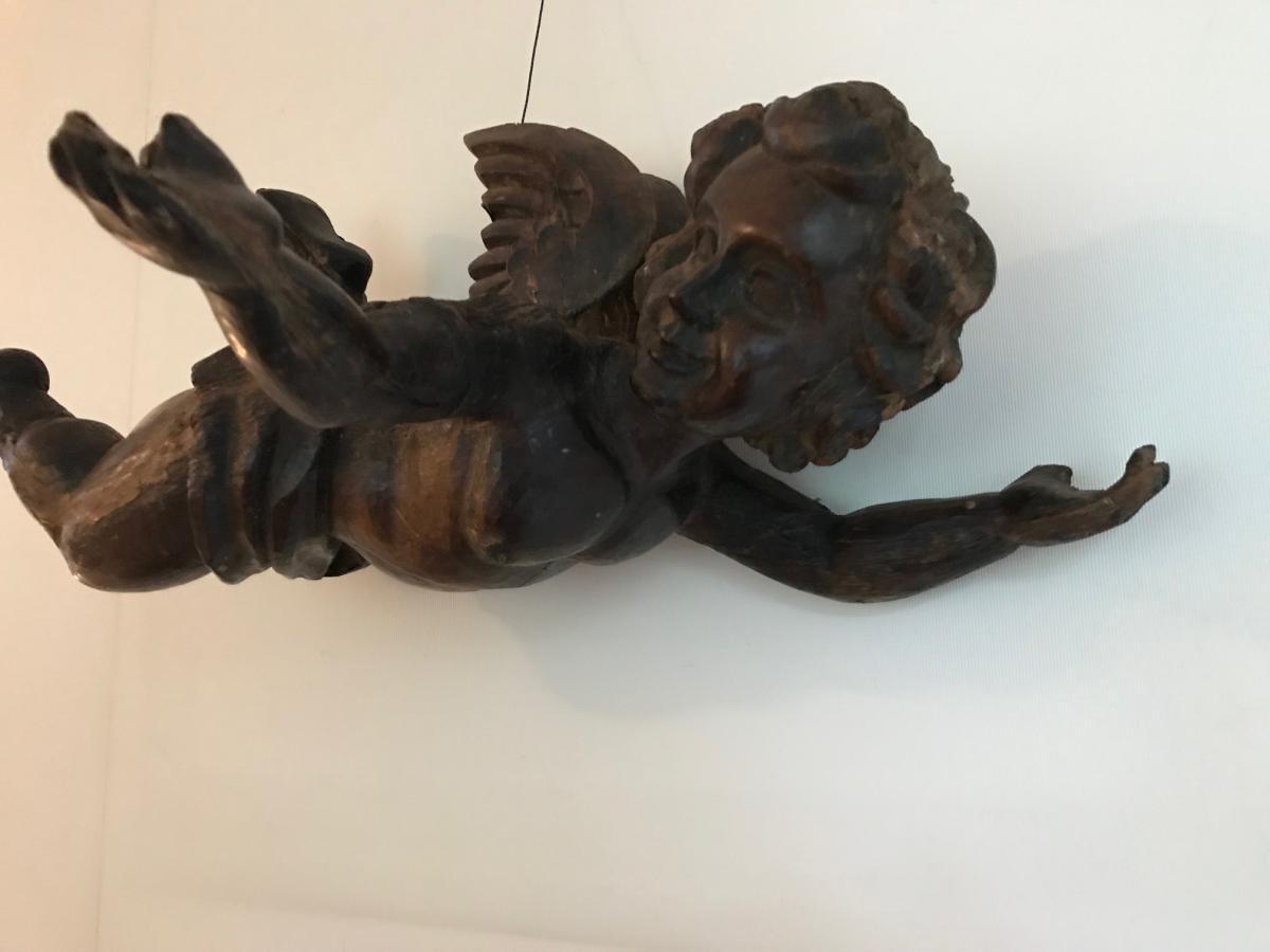 Angelot en bois sculpté Epoque XVIIIe