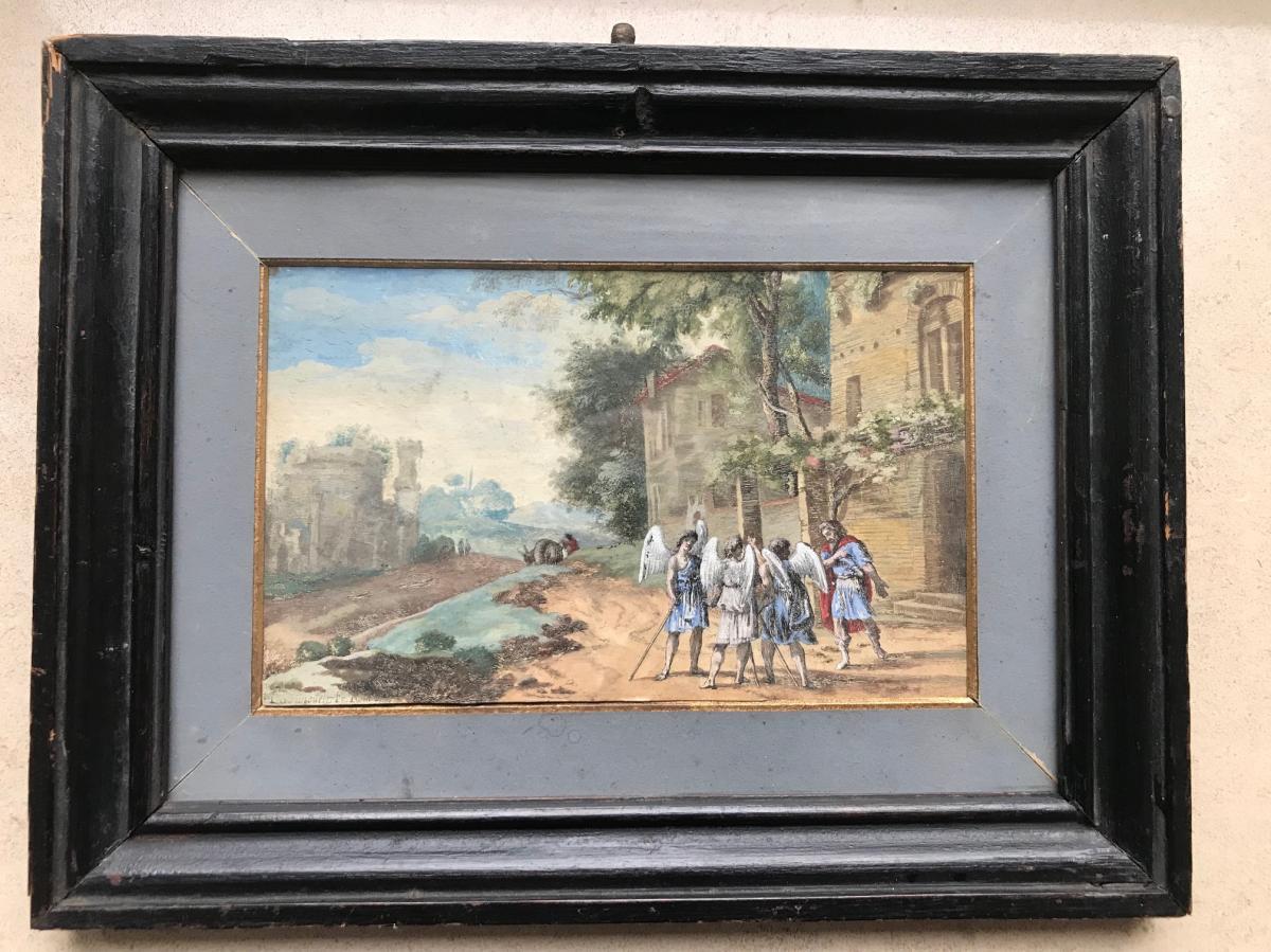 Herrman Van Swanevelt (c.1600-c.1655) Eau-forte Rehaussée à l'Aquarelle