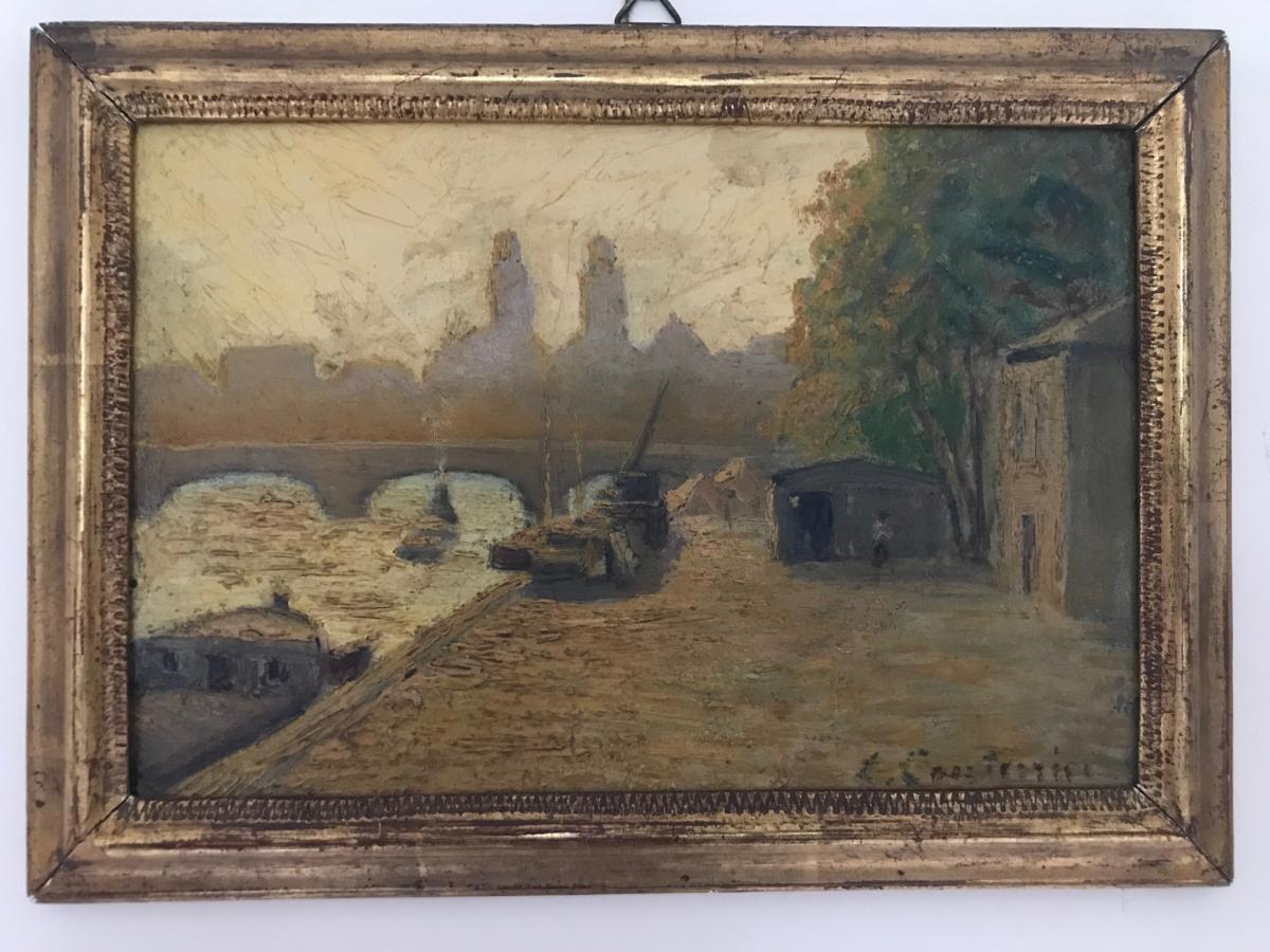 L. Couturier - Quays Of Seine And Pont Saint-michel