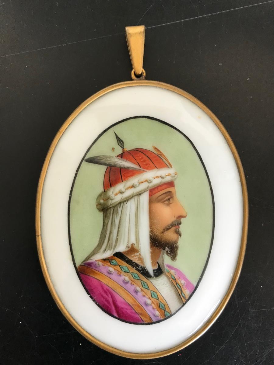 Portrait d'un Sultan - Peinture sur porcelaine