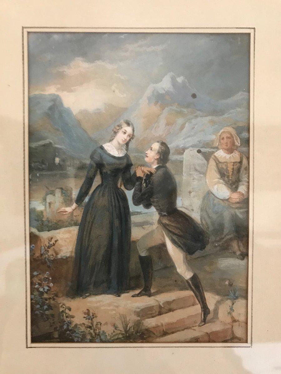 The Declaration - Watercolor Gouache