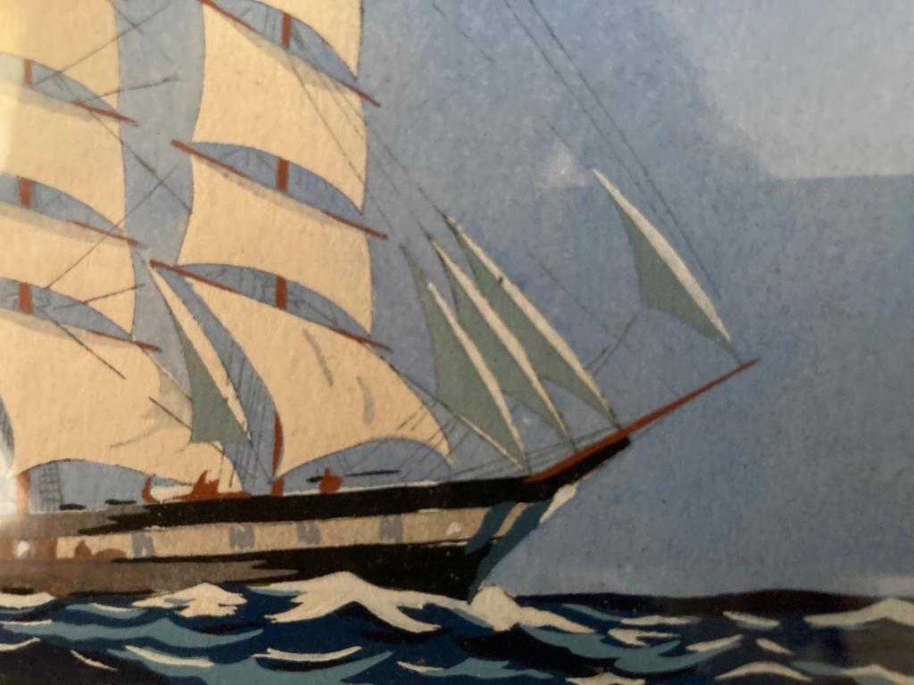 Paire de Trois-mâts attribués à Georges Fouillé-photo-2
