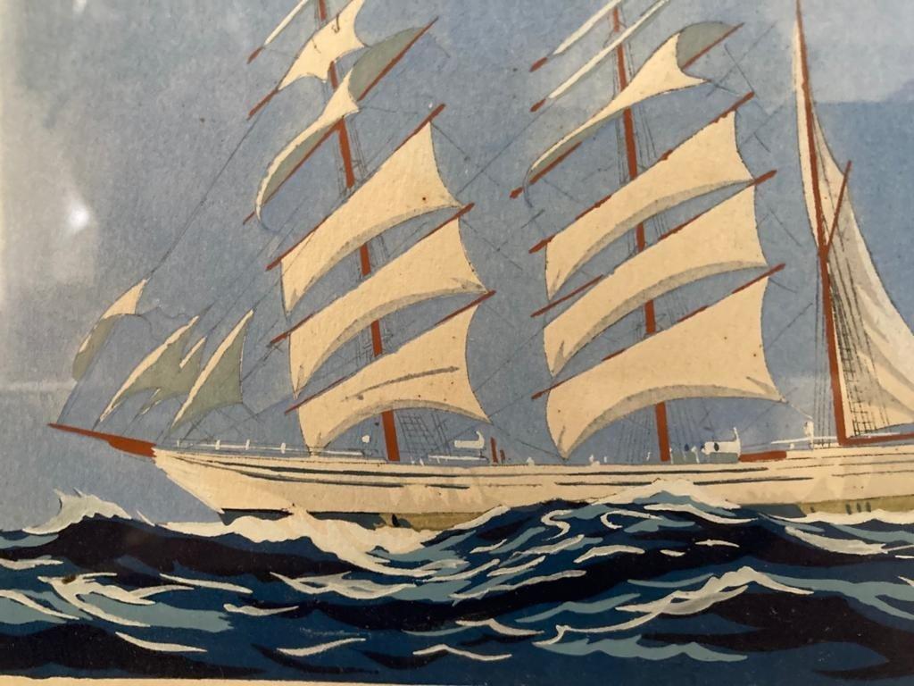 Paire de Trois-mâts attribués à Georges Fouillé-photo-3