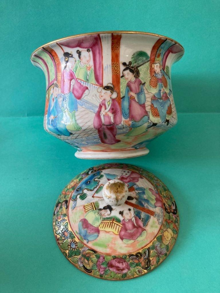 Chine Canton - Sucrier En Porcelaine-photo-4