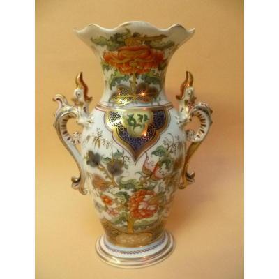 Vase En Porcelaine De Bayeux Période Langlois 1812-1849