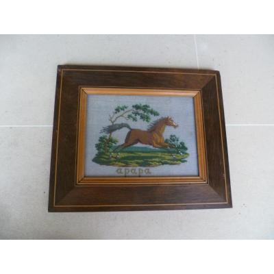 Embroidery In A Horse In Frame Rosewood Nets