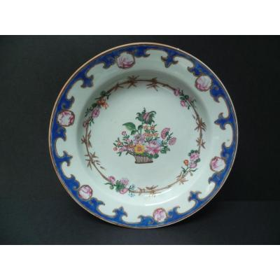 Plate Porcelain Company From India Eighteenth Century China