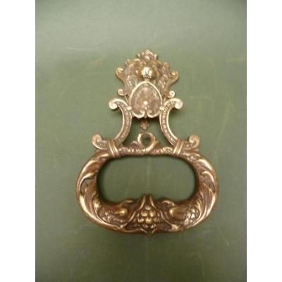 Heurtoir de porte en bronze Epoque XIXème