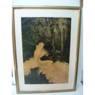 Louis Icart (1888-1950) Les Orchidées