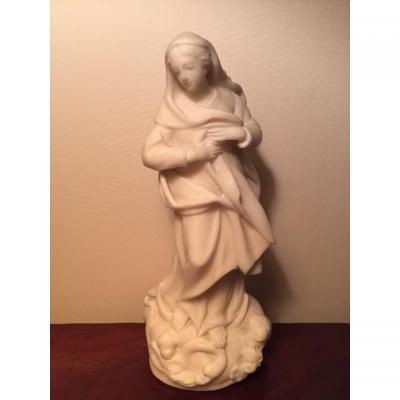 Statue de la Vierge en marbre
