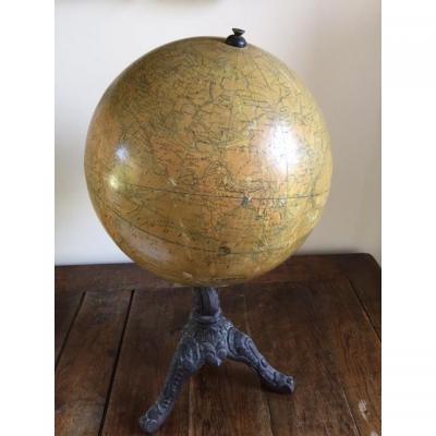Globe terrestre XIXe Siècle
