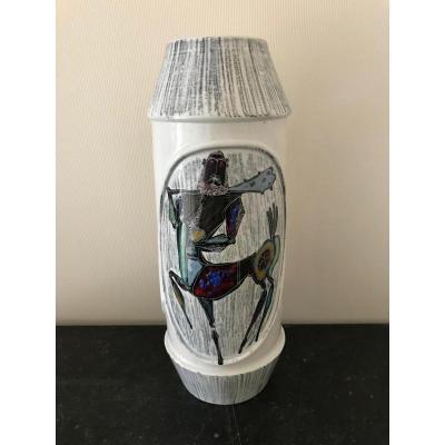 Vase céramique italienne à décor de centaure
